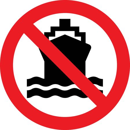 No ships allowed sign