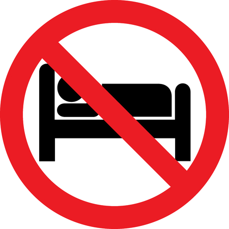 No sleeping allowed sign