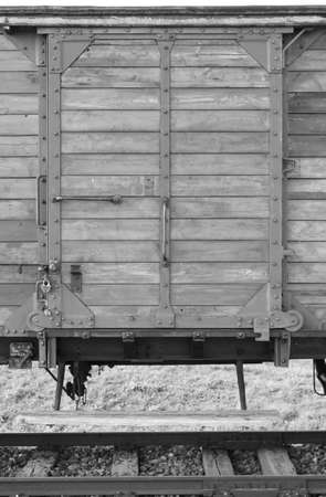 Deportation wagon at Auschwitz Birkenau concentration camp in Oswiecim, Poland. It was the biggest nazi concentration camp in Europe during World War II Editorial