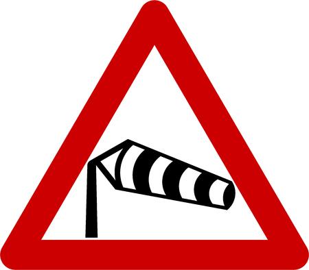 横風記号と記号を警告