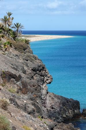 Playa Risco El Paso in Fuerteventura. Canary Islands, Spain