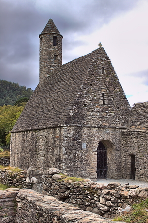 Saint Kevin church in Glendalough, Ireland