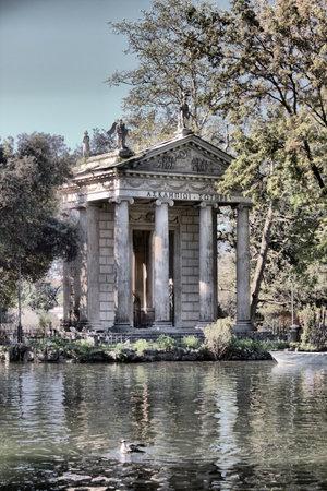 Temple of Esculapio in Villa Borghese. Rome, Italy