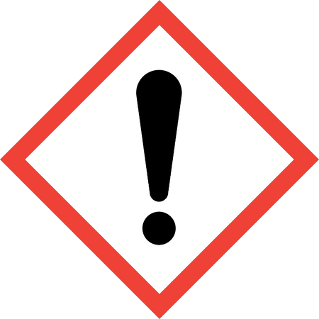 Hazard sign with exclamation mark symbol Stock Photo