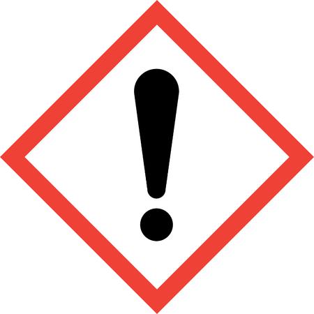 Hazard sign with exclamation mark symbol Archivio Fotografico
