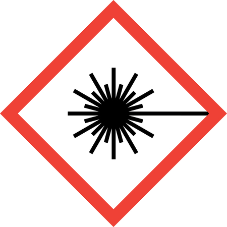 Hazard sign with laser beam symbol Imagens - 92167467