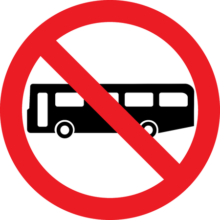 No bus allowed sign Banco de Imagens