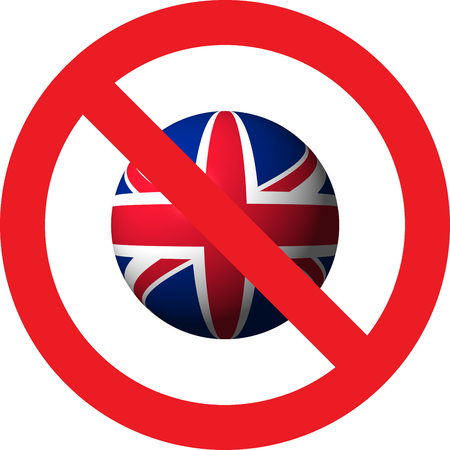 No UK allowed sign
