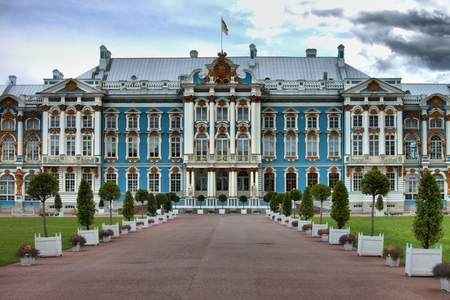 Catherine Palace, located in the town of Tsarskoye Selo. St. Petersburg, Russia