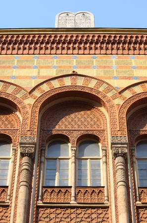 Detail of the Great Synagogue of Budapest, Hungary