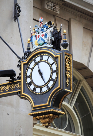 Renaissance style clock in the city of London, UK
