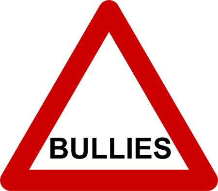Warning sign with bullies symbol Stock Photo