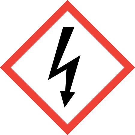Hazard sign with shock symbol