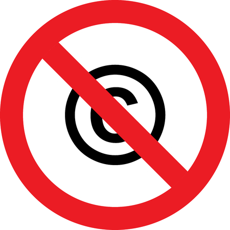 No copyright allowed sign