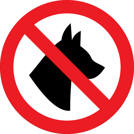 No dogs allowed sign Banque d'images - 100601908