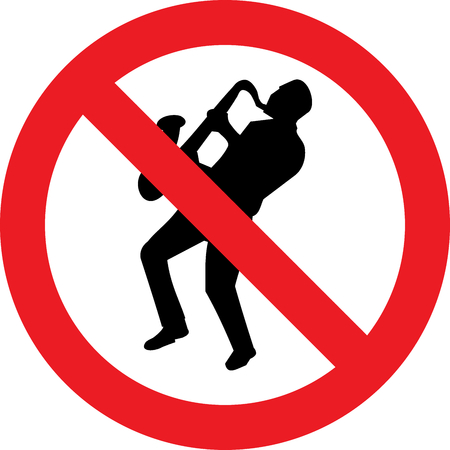 No musicians allowed sign Banco de Imagens