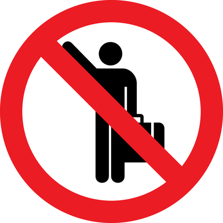 No hitch-hiking allowed sign