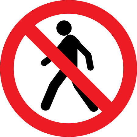 No pedestrian allowed sign