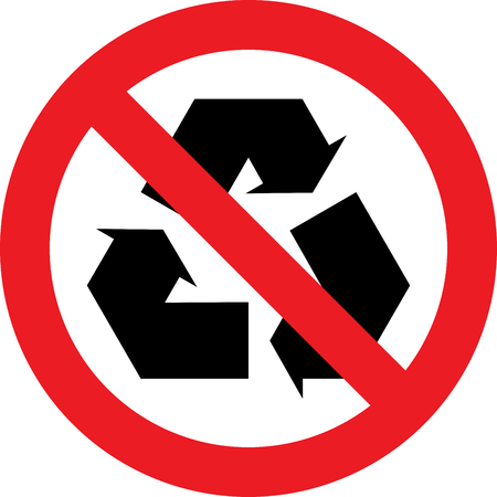 No recycling allowed sign