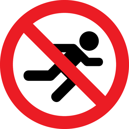No running allowed sign