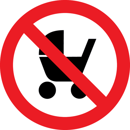 No stroller allowed sign