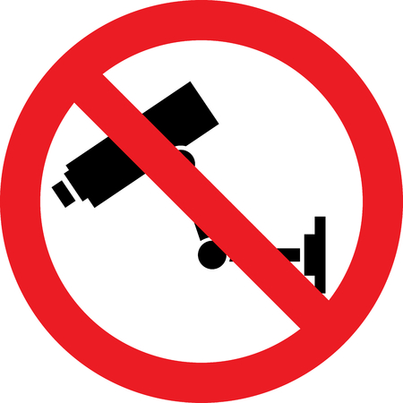 No surveillance allowed sign Stock Photo