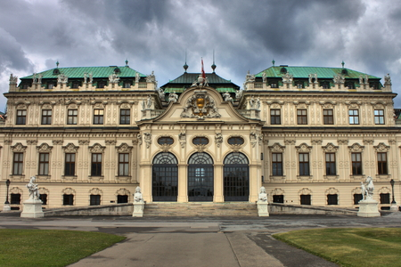 Facade of of Belvedere Palace in Vienna, Austria