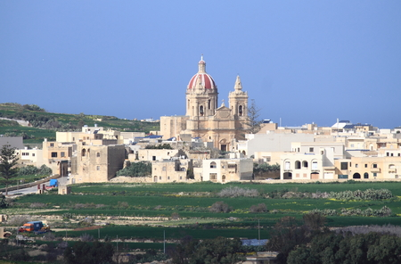 Basilica and Collegiate Parish church of the Visitation of Our Lady in Gharb. Gozo Island, Malta