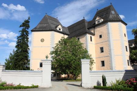 Landscape view of Greinburg Castle. Grein, Austria