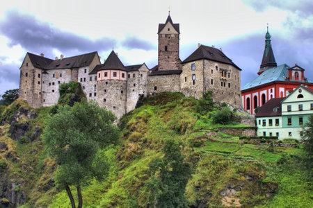 Landscape view of Loket castle, Czech Republic - HDR Editorial