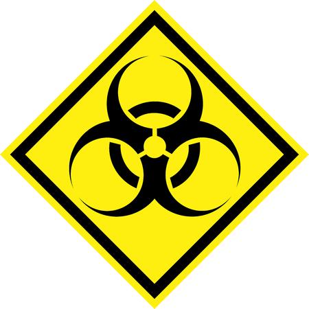 Yellow hazard sign with biohazard substances symbol Stock Photo - 107662431
