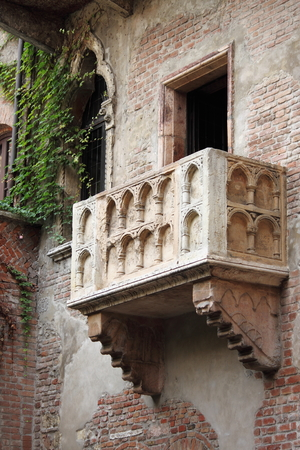Juliet balcony in Verona, Italy