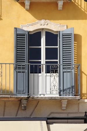 Colourful ancient squared window 版權商用圖片