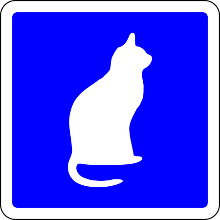 Cats allowed blue sign Stock Photo