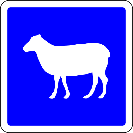 Sheeps allowed blue sign