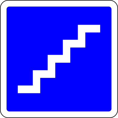 Stairs available blue sign Archivio Fotografico - 119615763