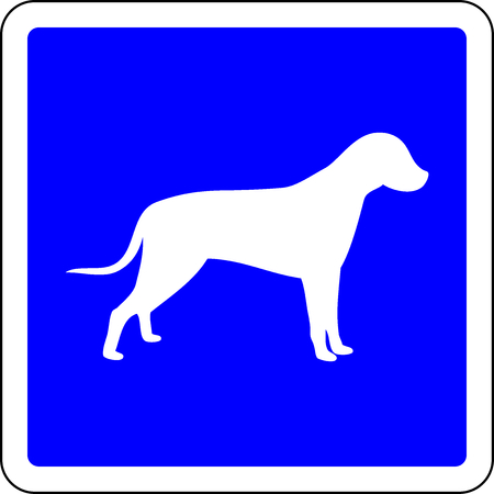 Dogs allowed blue sign