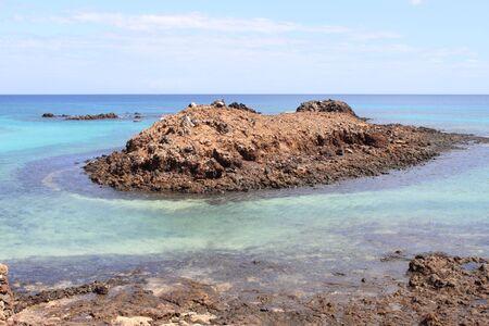 Punta Mantequilla in Lobos Island. Canary Islands, Spain