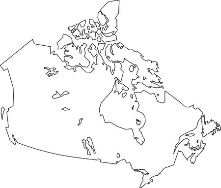 Map of Canada filled with white color