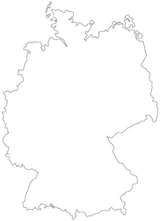 Map of Germany filled with white color