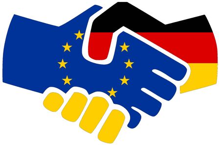 EU - Germany / Handshake, symbol of agreement or friendship