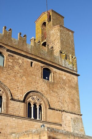 Facade of People Palace in Orvieto, Italy