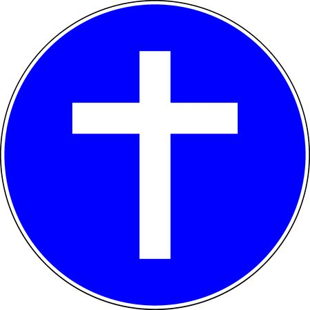 Christian religion allowed blue sign