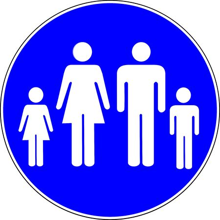 Family allowed blue sign
