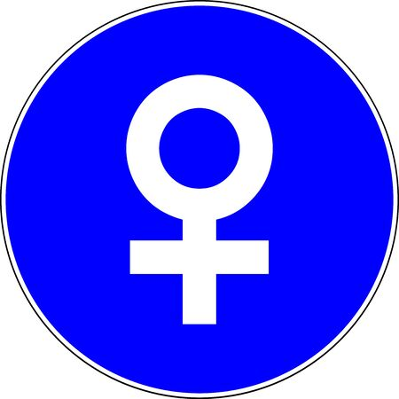 Female allowed blue sign
