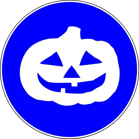 Halloween celebrations allowed blue sign