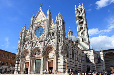 Siena, Italy - June 29, 2018: The Cathedral of Siena in Tuscany, Italy Editoriali