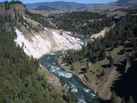 Landscape of Yellowstone canyon, USA