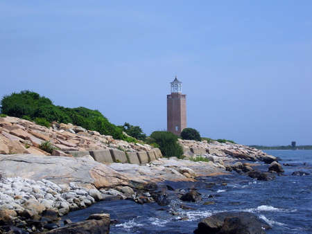 Avery Point Lighthouse in Connecticut, USA