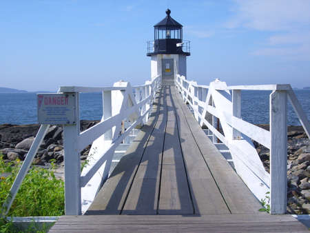 Marshall Point Lighthouse in Maine, USA Archivio Fotografico